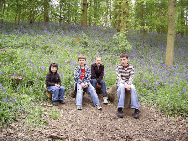 Me in Coughton Court Bluebell Woods